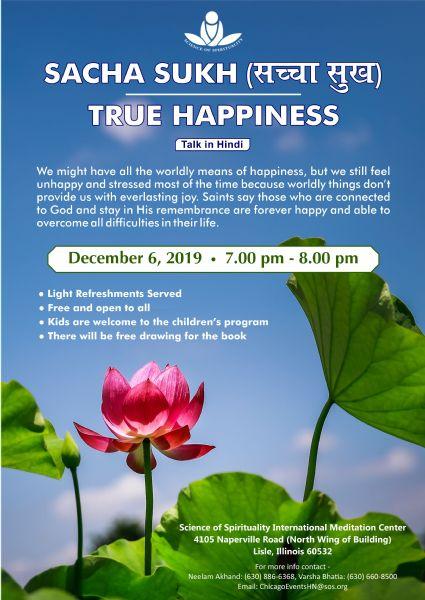 Sacha Sukh - True Happiness